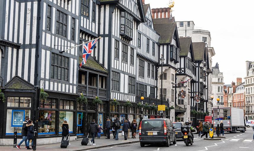 ロンドン中心街 オックスフォードストリート